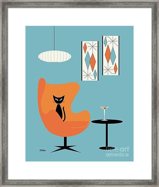 Turquoise Room Framed Print