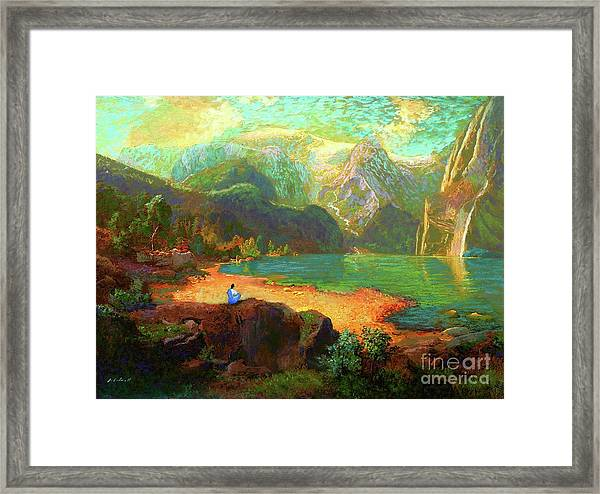 Turquoise Tranquility Meditation Framed Print