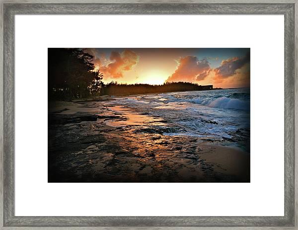 Turtle Bay Sunset 1 Framed Print