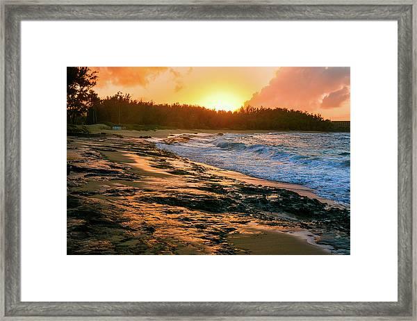 Turtle Bay Sunset 2 Framed Print