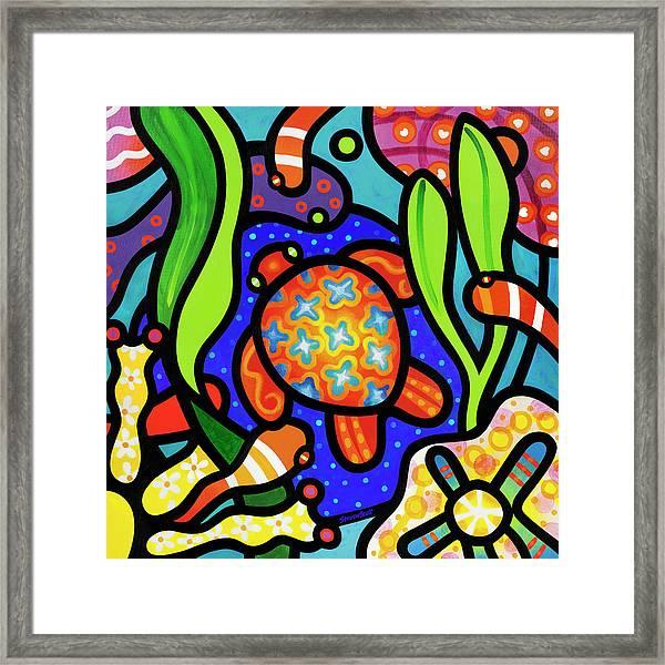 Turtle Reef Framed Print