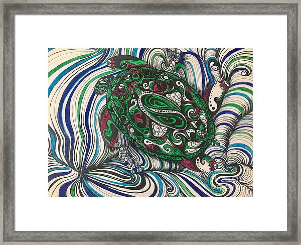 Turtle Time All Alone Framed Print