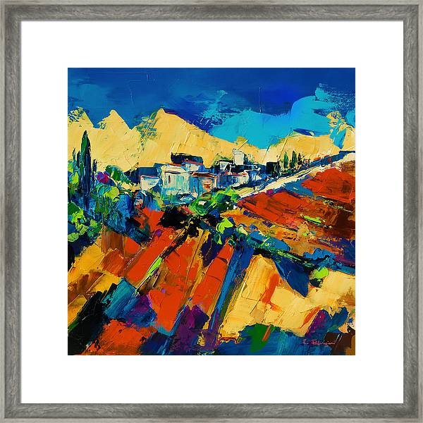 Framed Print featuring the painting Tuscan Light by Elise Palmigiani