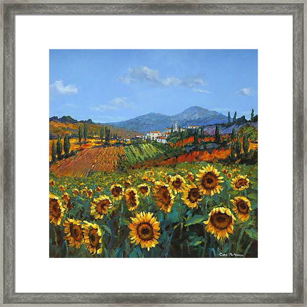 Tuscan Sunflowers Framed Print