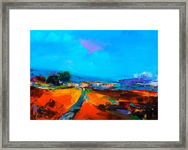 Framed Print featuring the painting Tuscan Village by Elise Palmigiani