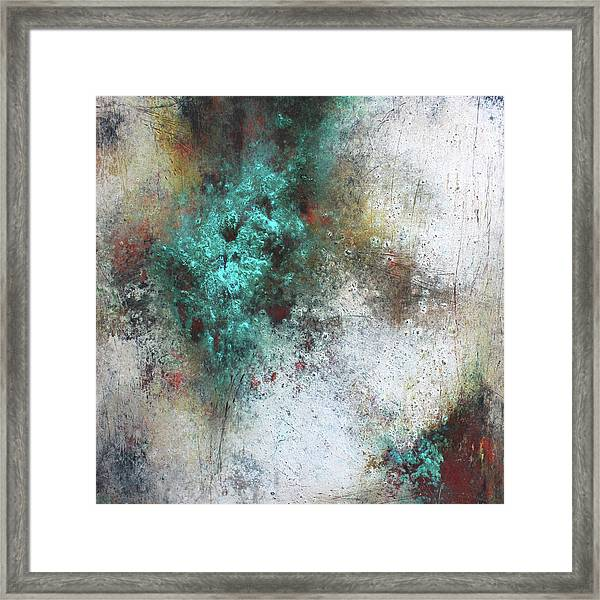 Tuscany Oil And Cold Wax Framed Print