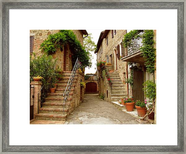 Tuscany Stairways Framed Print