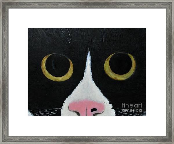 Tux Portrait  Framed Print