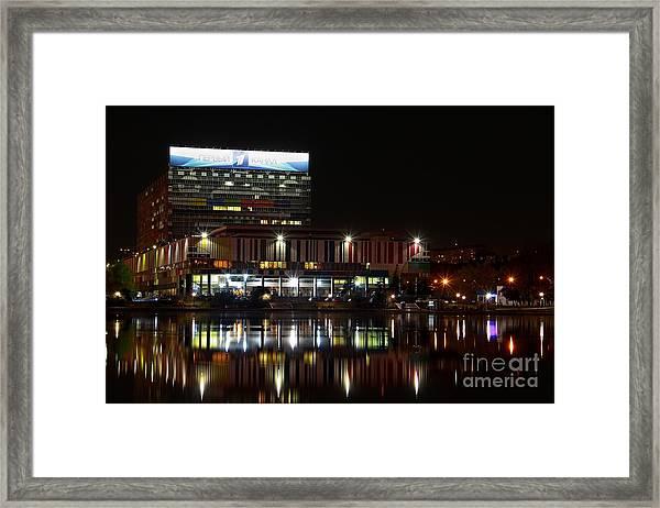 Tv Center Framed Print
