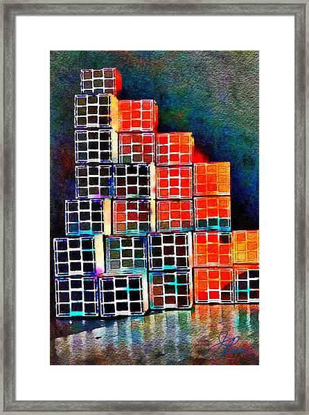 Twenty Four Boxes Framed Print