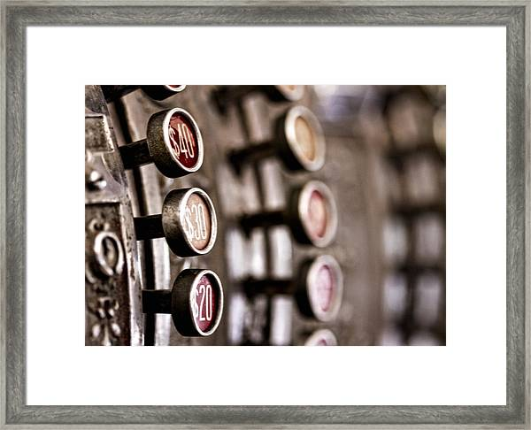 Twenty..thirty..forty.... Framed Print