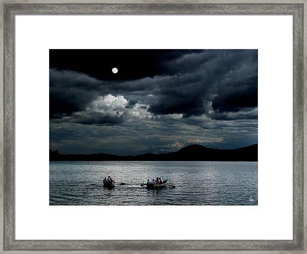 Twice In A Blue Moon Framed Print