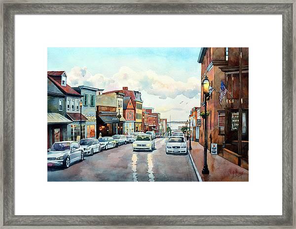 Twilight Annapolis Framed Print