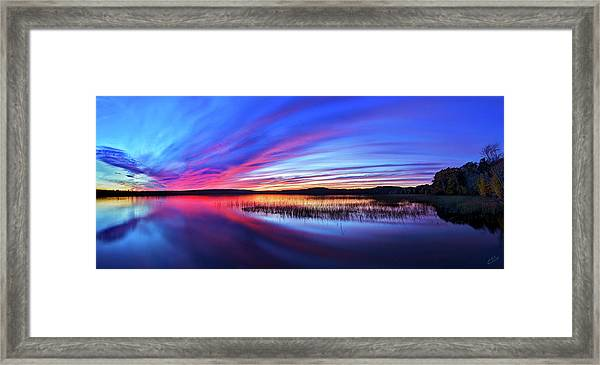Twilight Burn Framed Print
