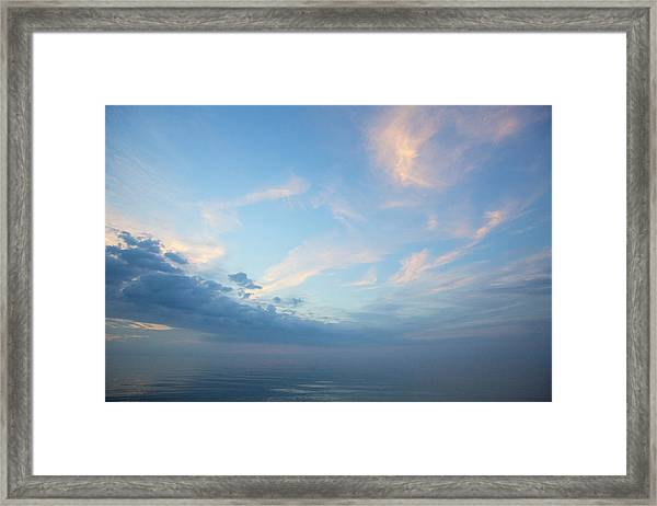 Twilight Clouds Over Lake Superior Framed Print