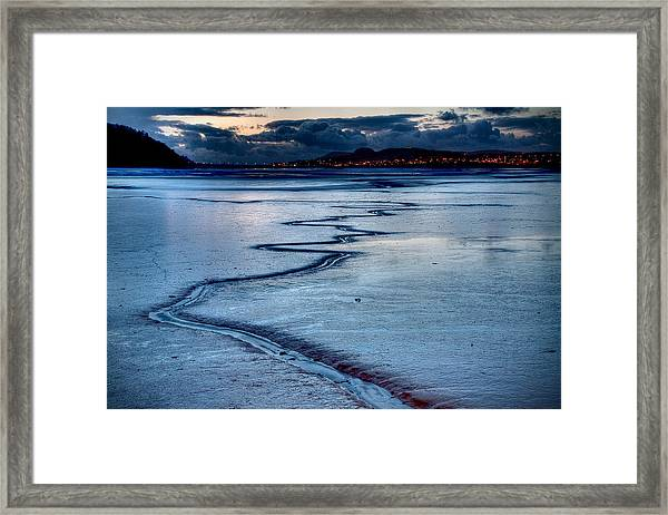 Twilight, Conwy Estuary Framed Print