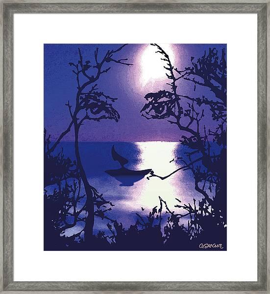 Twilight Face Framed Print