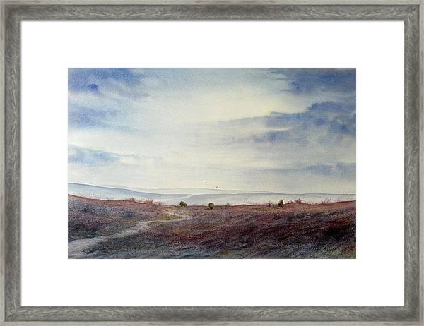 Twilight Settles On The Moors Framed Print