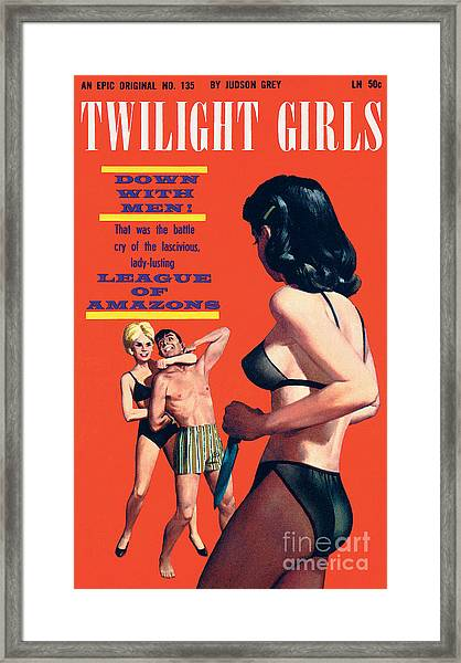 Twilight Girls Framed Print