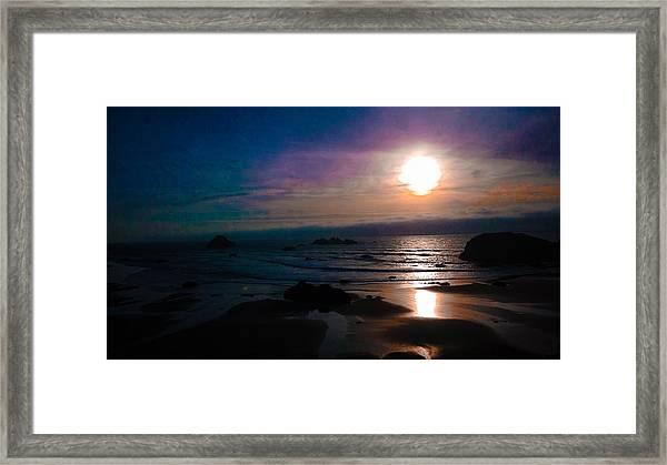 Twilight Low Tide Framed Print
