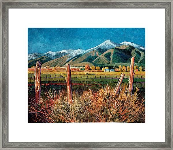 Twilight On Taos Mountain Framed Print