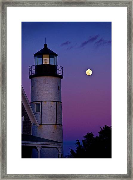Twilight At Sandy Neck Lighthouse Framed Print