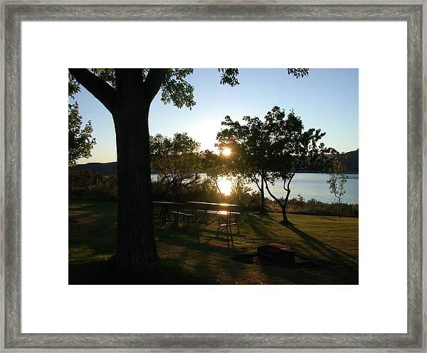 Twilight Sun Framed Print