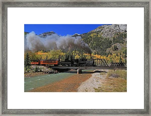 Twin Bridges Framed Print
