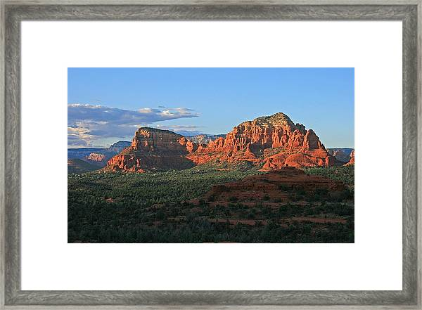 Twin Buttes Sunset Framed Print