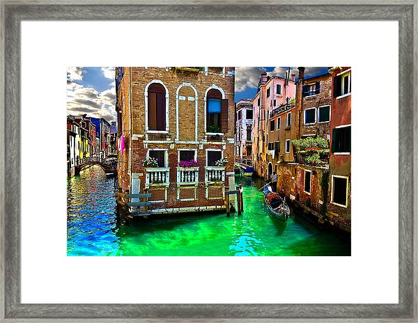 Twin Canals Framed Print