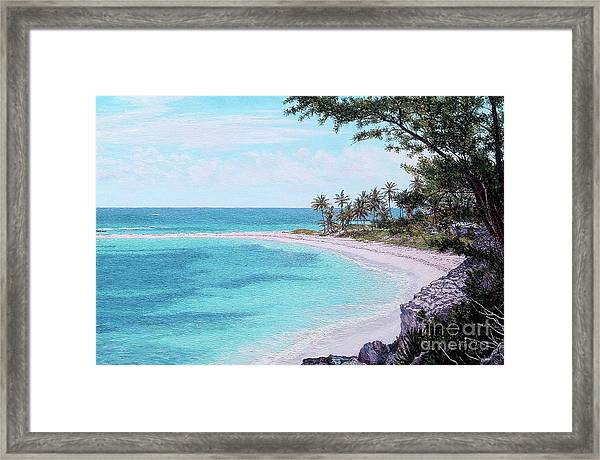 Twin Cove Paradise Framed Print