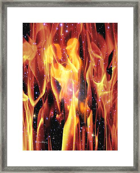 Twin Flames Framed Print
