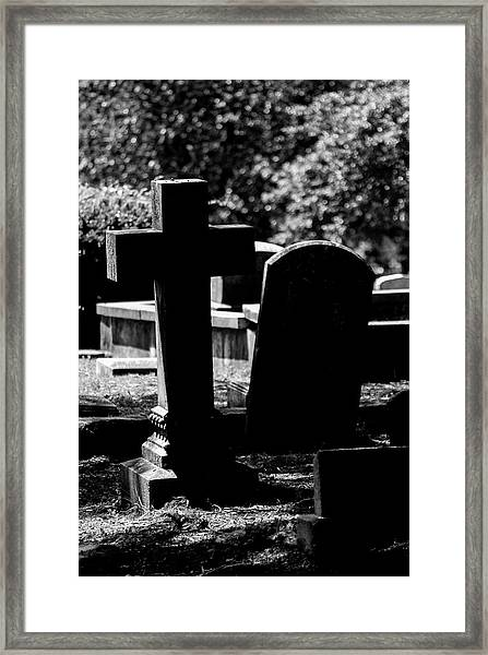 Twin Graves Framed Print
