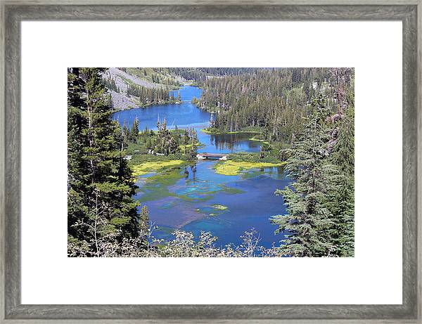 Twin Lakes Eastern Sierra Photography Framed Print