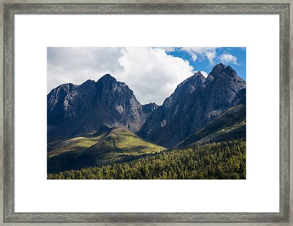 Twin Peaks In Mid-summer Framed Print