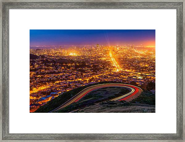 Twin Peaks Twilight Framed Print