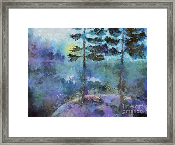 Twin Pines Framed Print