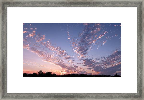 Twin Sisters Sunset Framed Print