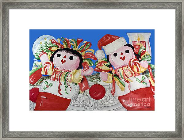Twin Stockings Framed Print