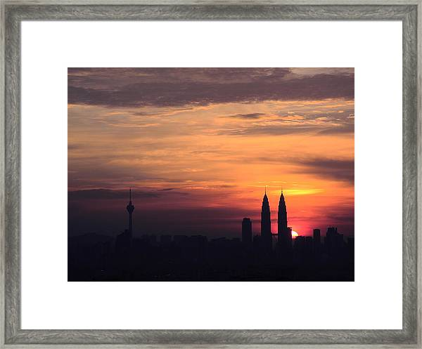 Twin Tower Framed Print