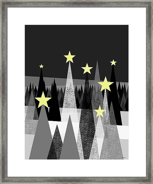 Twinkle Night Framed Print