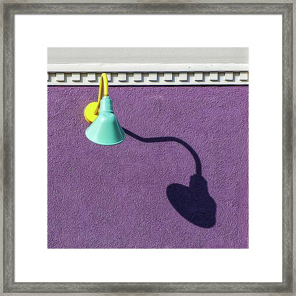 Twisted Lamp And Shadow Framed Print