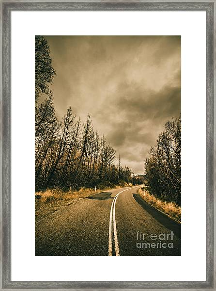 Twists And Turns Framed Print
