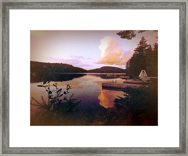 Twitchell At Sunset Framed Print