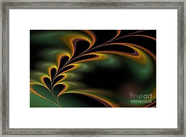 Framed Print featuring the digital art Twitterpated by Sandra Bauser Digital Art