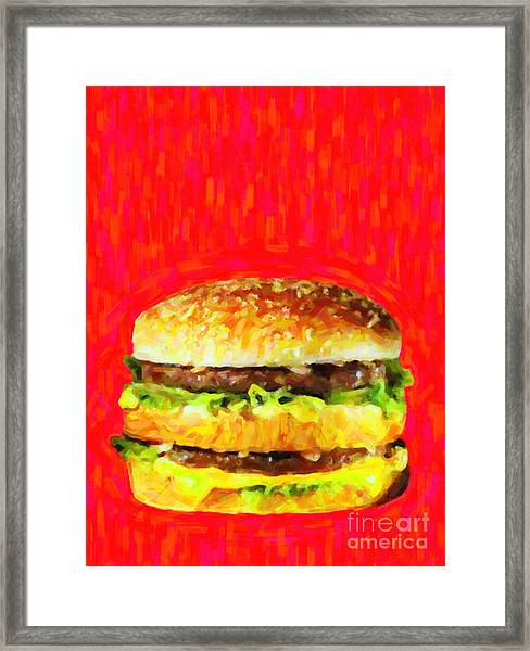 Framed Print featuring the photograph Two All Beef Patties by Wingsdomain Art and Photography