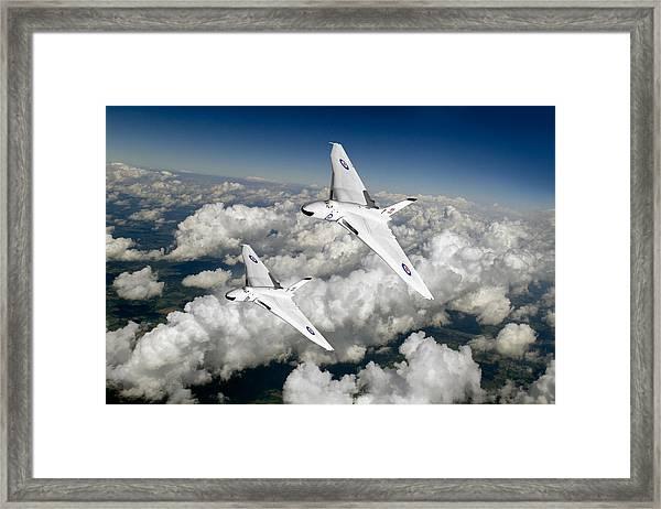 Two Avro Vulcan B1 Nuclear Bombers Framed Print