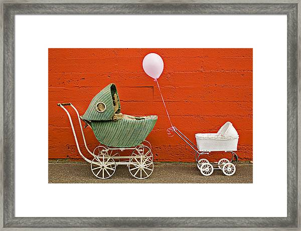 Two Baby Buggies  Framed Print