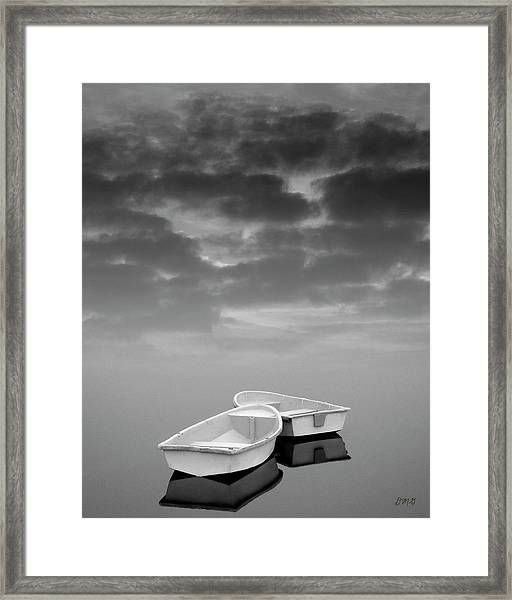 Two Boats And Clouds Framed Print