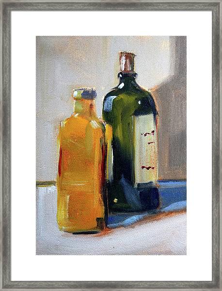 Two Bottles Framed Print